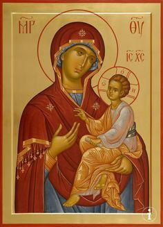 Христина Прохорова Byzantine Icons, Byzantine Art, Religious Icons, Religious Art, Russian Icons, Religious Paintings, Orthodox Christianity, Madonna And Child, Art Icon