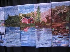 The View From the Border Street Bridge by The Coastal Quilt Artists