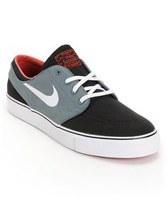 """The Nike <a class=""""translink"""" href=""""brands/nike/janoski.html"""">Stefan Janoski</a> skate shoe in the Black, Armory Navy, White and University Red colorway are ready to skate right out of the box on day one. The Stefan Janoski Nike skat for the BF"""