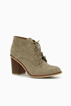 ShopSosie Style : Lewis Lace Up Booties in Taupe