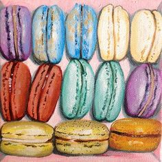#Artwork #Macaroons 2012 – Original Acrylic Painting on Stretched Canvas.