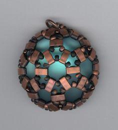 Lunasoft Cabochon with Half Tila beads by Marcie Lynne