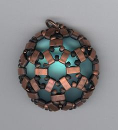 Lunasoft Cabochon with Half Tila beads by Marcie Lynne