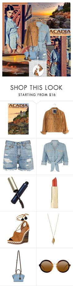 """""""Week at Acadia"""" by lovemeforthelife-myriam ❤ liked on Polyvore featuring Madewell, R13, ZAK, Clé de Peau Beauté, Aquazzura and Fendi"""