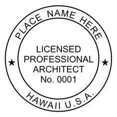 Architect Self Inking Rubber Stamp Of Seal