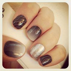 Jamberry Nail wraps #SwayJN #FadeToBlackJN #DiamondDustSparkleJN  http://charissam.jamberrynails.net