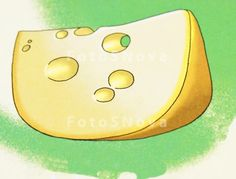 Рисунок сыра на ногте