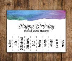 Geburtstag - Postkarte Geburtstag 5 Stück, Geburtstagskarten - ein Designerstück von Nastami bei DaWanda