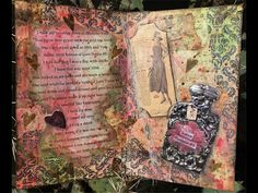 Mixed Media Art Journal Page - Canvas Corp Brands Traveling Journal Project - February - YouTube