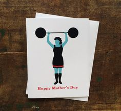 Strong Mom Mother's Day Card by thebeautifulproject on Etsy