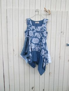 lagenlook  Upcycled clothing / Patchwork Dress / by CreoleSha, $97.00