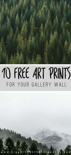 Free Art Prints for Your Gallery Wall / Love modern art? Have a small budget for art for your home? You are in luck! Click over to get 10 FREE prints -->
