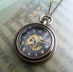 I don't know why but I am in love with pocket watches. This one is beautiful!