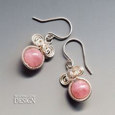 How to Make Coiled Wire Framed Gemstone Earrings