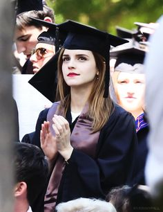 Emma Watson graduates from Brown University  - 25 May 2014