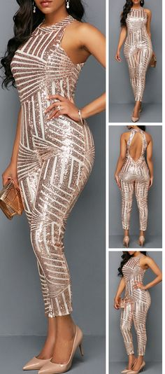 Turn heads this holiday season in jumpsuit from Rotita.This figur-flattering find will ensure you have the perfect outfit for every occasion.Shop the stylish jumpsuit today. Sexy Outfits, Cool Outfits, Jumpsuit Elegante, Pulls, African Fashion, Dress To Impress, Autumn Fashion, Glamour, Fashion Dresses