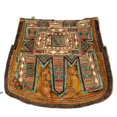 Africa | Camel bag from the Tuareg people of Niger | Leather | 20th century
