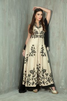 Silk kurta with straight pants embellished with sequins work. Item number W15-24