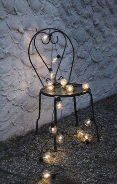 LED Partylichterkette Lichterkette Glühbirne, 16 tlg 9,5m inkl. 5m Zuleitung   eBay 36.-