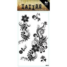 3a6c5150de1de GGSELL Waterproof and non toxic product dimension black color flowers India  and Middle Estern style temporary tattoos ** Continue to the product at the  ...