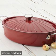 Rachael Ray Cucina Oven-To-Table Hard Enamel Nonstick Covered Oval Sauteuse, Pumpkin Orange Kitchen Dishes, Kitchen Gadgets, Professional Chef, Bakeware, Rustic Design, Kitchenware, Earthy, Delish