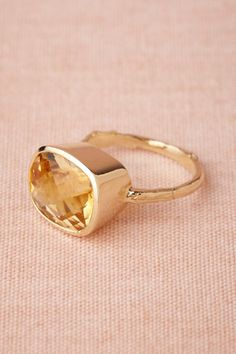 Pooling Citrine Ring in The Bride Bridal Jewelry at BHLDN