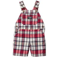 Plaid Shortalls