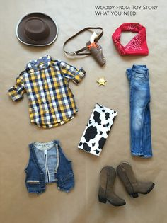 DIY Woody from Toy Story No Sew Halloween Costume The Girls With Glasses