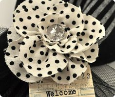 Fabric Rolled Rose {FREE shape of the week}