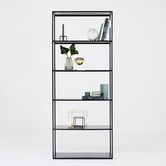 Soho Steel Bookcase – Black