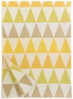 Harlequin Throw - Yellow - Trouva