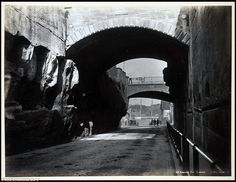 The Argyle Cut. The Argyle Cut It was carved by convicts. Pass through it from the Rocks into almost forgotten Miller's Point (Image courtesy of: The Powerhouse Museum) Harbor Bridge, Sydney Harbour Bridge, Caricature, Travel Pictures, Cool Pictures, The Rocks Sydney, Wales Beach, Victoria Building, Coogee Beach
