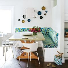 Family-Friendly Dining - Space-Saving Built-Ins - Coastal Living
