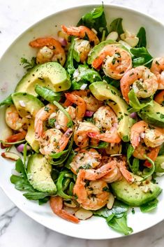 Citrus Shrimp and Avocado Salad! – Romy Galland Citrus Shrimp and Avocado Salad! Citrus Shrimp and Avocado Salad! Healthy Salads, Healthy Eating, Clean Eating Salads, Healthy Filling Meals, Diabetic Salads, Healthy Lunches, Healthy Sides, Healthy Side Dishes, Easy Salads