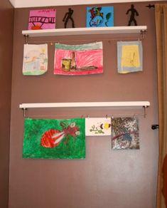 bilderleisten kinderzeichnungen ausstellen wanddeko