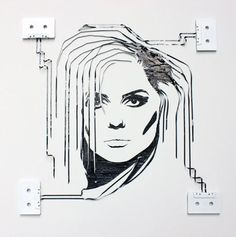 Deborah Harry of Blondie cassette tape art by Erika Iris Simmons Creative Portraits, Creative Art, Creative Ideas, Cassette Tape Art, Vhs Tapes, Casette Tapes, Art Tumblr, Ghost In The Machine, Celebrity Portraits