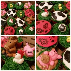 Farm themed birthday cupcakes!!! search girlie girl sweets on facebook