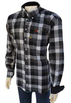 camisa xadrez masculina preta
