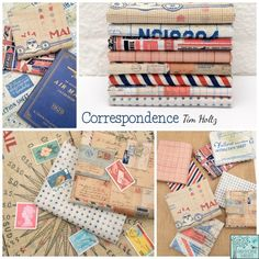 Tim Holtz - Correspondence Fabric Collection