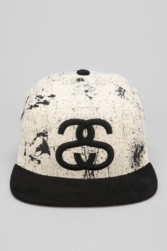 9c9b2f5e7b0 Stussy Splatter Snapback Hat. Nothing s more rare and luxurious than a  subtle eggshell white on
