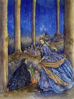 I loved this story when I was little. 12 Dancing Princesses from the Red Fairy Book illustrated by Niroot Puttapipat