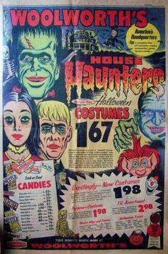 Vintage Woolwowrth's Halloween ad.