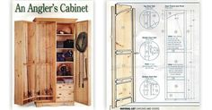 Fishing Rod Cabinet Plans - Furniture Plans and Projects | WoodArchivist.com