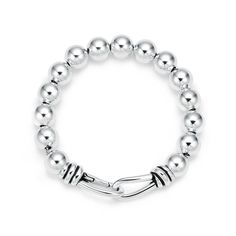 Paloma Picasso® Knot bead bracelet in sterling silver, extra large. | Tiffany & Co.