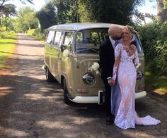 Sealed with a loving kiss.... Chauffeur driven VW Campervan wedding hire throughout the NorthEast, Northumberland, Tyne&Wear, and Durham.