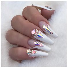 White Bling Coffin Nails  Swarovski nail art design  Trending winter nail ideas   #nails#nailart#coffinnails#MargaritasNailz#vetrogel#nailfashion#naildesign#nailswag#hairandnailfashion#nailedit#nailcandy#nailprodigy#ombrenails#nailsofinstagram#blingnails#nailaddict#nailstagram#naildesigns#instagramnails#nailsoftheday#nailporn#nailsonfleek#weddingnails#nailpro#naildesigns#vetrousa#fashionnails#whitenails#valentinobeautypure#teamvalentino