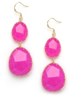 What fun & bright pink drop earrings.