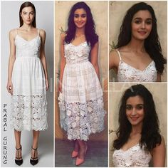 Yay or Nay : Alia Bhatt in Prabal Gurung Indian Designer Outfits, Indian Outfits, Bollywood Fashion, Bollywood Actress, Alia Bhatt Cute, Alia And Varun, Prabal Gurung, Western Dresses, India Fashion