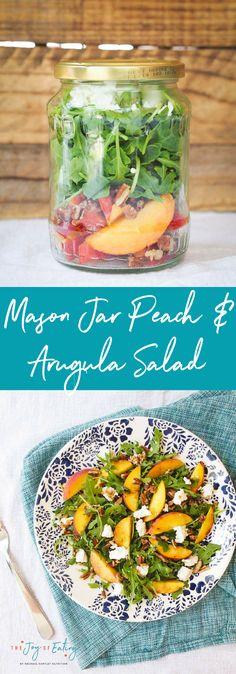 Mason Jar Peach and Arugula Salad + A Giveaway! — Rachael Hartley Nutrition