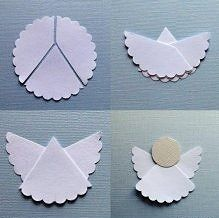 Super easy DIY Angel craft- might be cute to make a little angel version of your Pi Phi sisters #piphi #pibetaphi